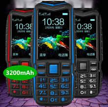 Banco de energía móvil con dos linternas, Larga modo de reposo FM, resistente, teléfono exterior a prueba de golpes, SIM Dual, gran voz, ruso
