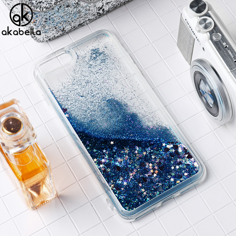 AKABEILA Liquid Glitter Soft TPU <font><b>Phone</b></font> <font><b>Cases</b></font> For Apple <font><b>iPhone</b></font> 6 6 S <font><b>Plus</b></font> iPhone66S <font><b>Plus</b></font> 5.5 inch Covers PC Bags Back Shell