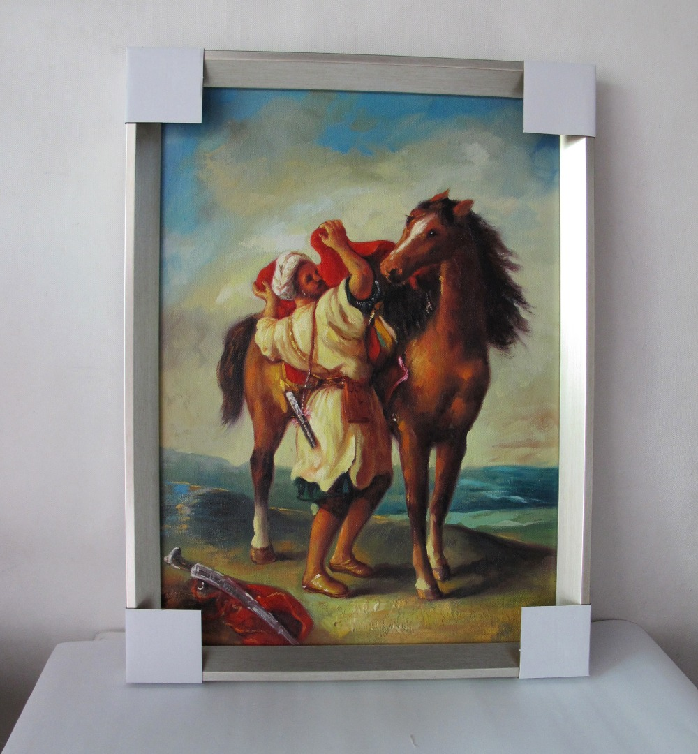 ⊰Enmarcado árabe pinturas al óleo cuadros de la pared para la sala ...