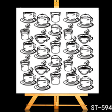 ZhuoAng Delicious coffee Transparent and Clear Stamp DIY Scrapbooking Album Card Making Decoration