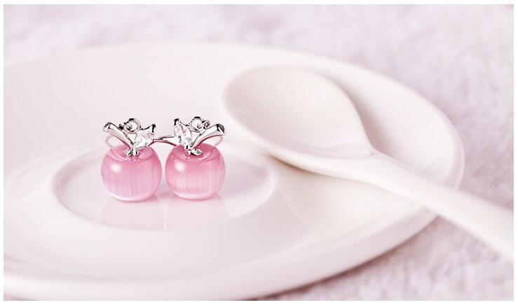 Μόδα ροζ Λευκό μήλο Opal πέτρα - Κοσμήματα μόδας - Φωτογραφία 2