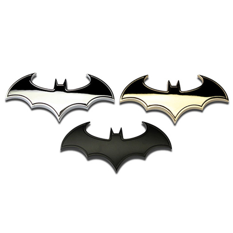 Metal Bat Auto Logo Car Styling Car Stickers Metal Batman Badge Emblem