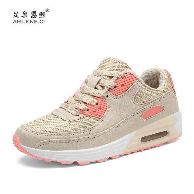 Nouvelles chaussures printemps été Respirant chaussures de lacets sport chaussures de course Femme chaussures à coussin d'air 0bzVIog