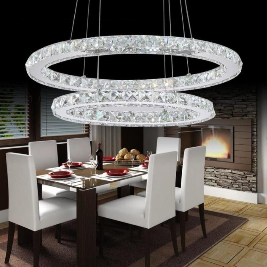 Moderne ovale k9 kristall pendelleuchten led lampen edelstahl led pendelleuchten high power led lustre beleuchtung