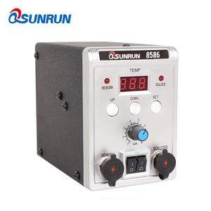 Image 2 - 8586 700 Вт 110 В/220 В 700 Вт Qsunrun 2 в 1 SMD паяльная станция, сварочный паяльник, набор инструментов для распайки печатных плат и микросхем
