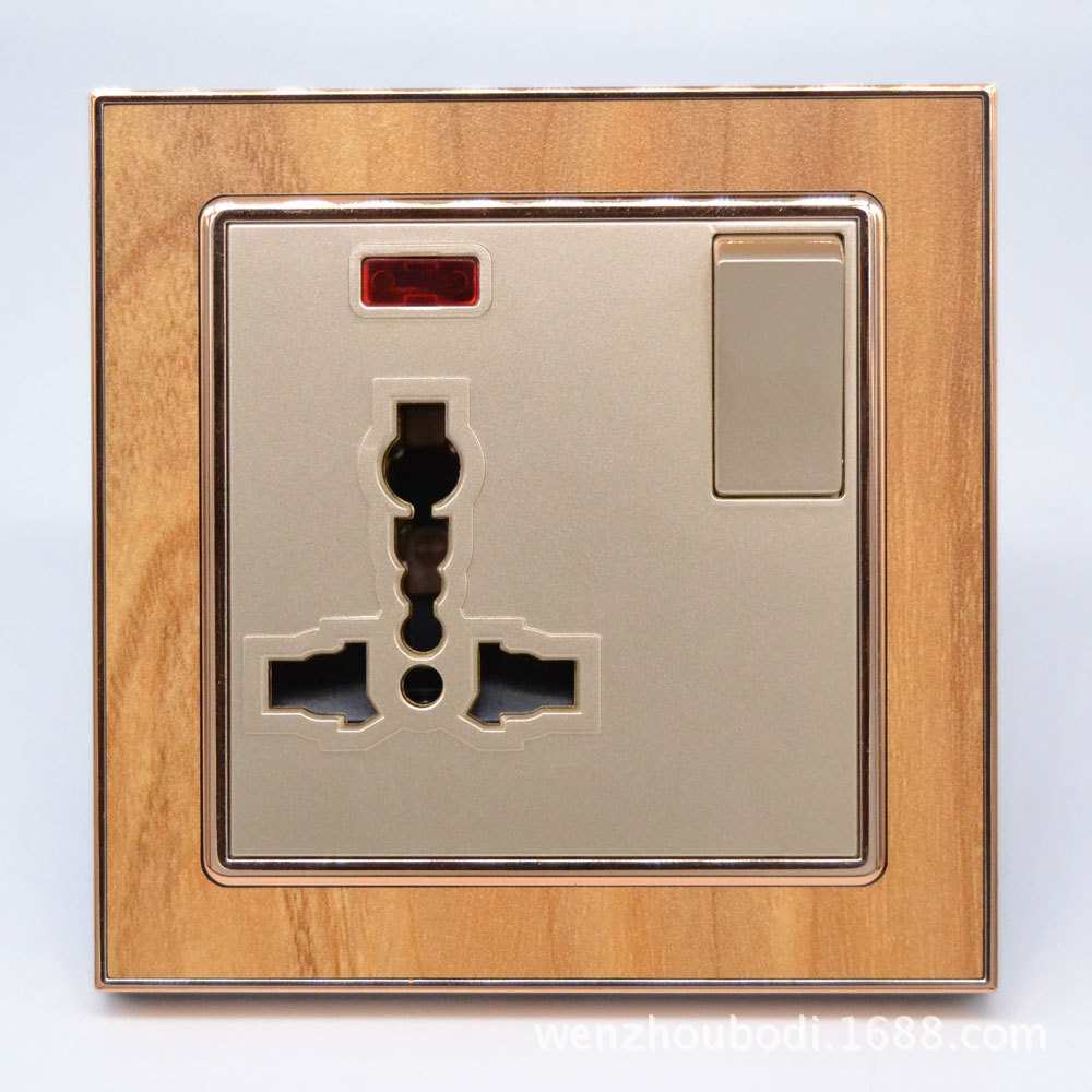Multifunctional Socket With Lamp  Three Hole For British AC 110~250V