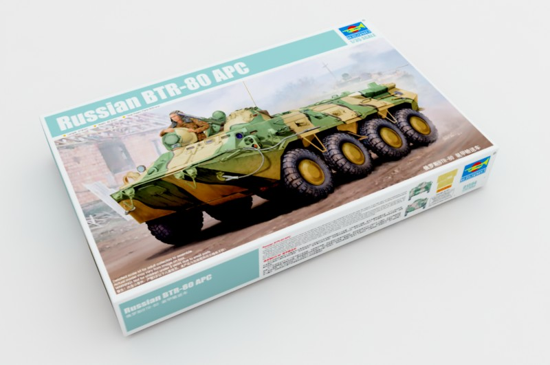 Trumpeter model 01594 1 35 Russian BTR 80 APC plastic model kit