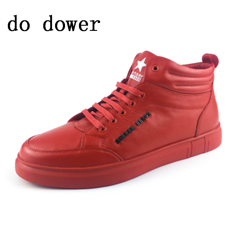Spring New Hot Men Casual Shoes Luxury Trainers Summer Male Genuine Leather Shoes Lace-up Platform Red Colors Sneakers ege brand handmade genuine leather spring shoes lace up breathable men casual shoes new fashion designer red flat male shoes