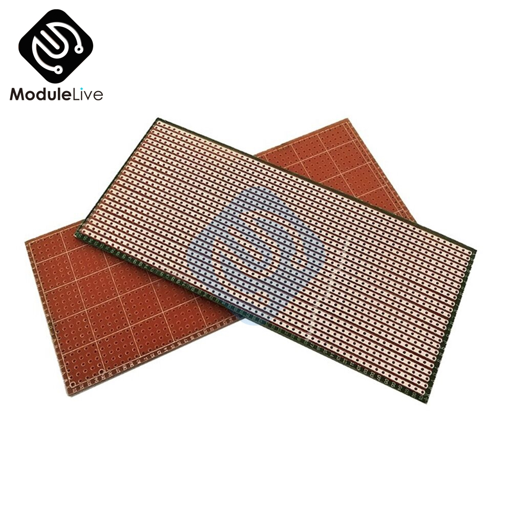 5PCS 6.5X14.5CM 2.54 MM 2.54MM 6.5X14.5 CM  Single-sided Perforated Green Oil  Multi-function Universal Electric Board