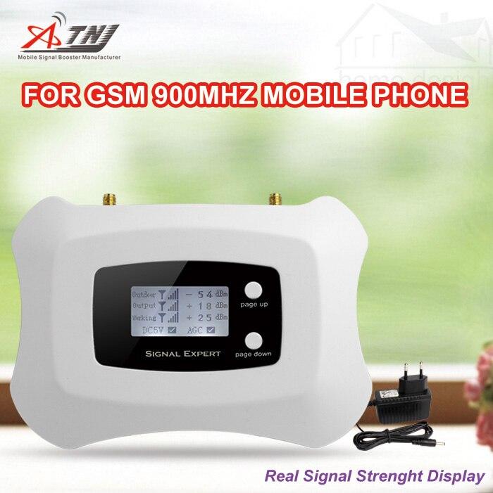 Mini gsm900mhz! Écran lcd 900 mhz GSM cellulaire signal booster amplificateur 2G gsm mobile signal répéteur Seulement Booster + adaptateur