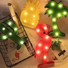 Christmas Decorations for Home Holiday Heart Love Night Light Pineapple Cactus Star Moon Tree LED Creative Kawaii Lamp