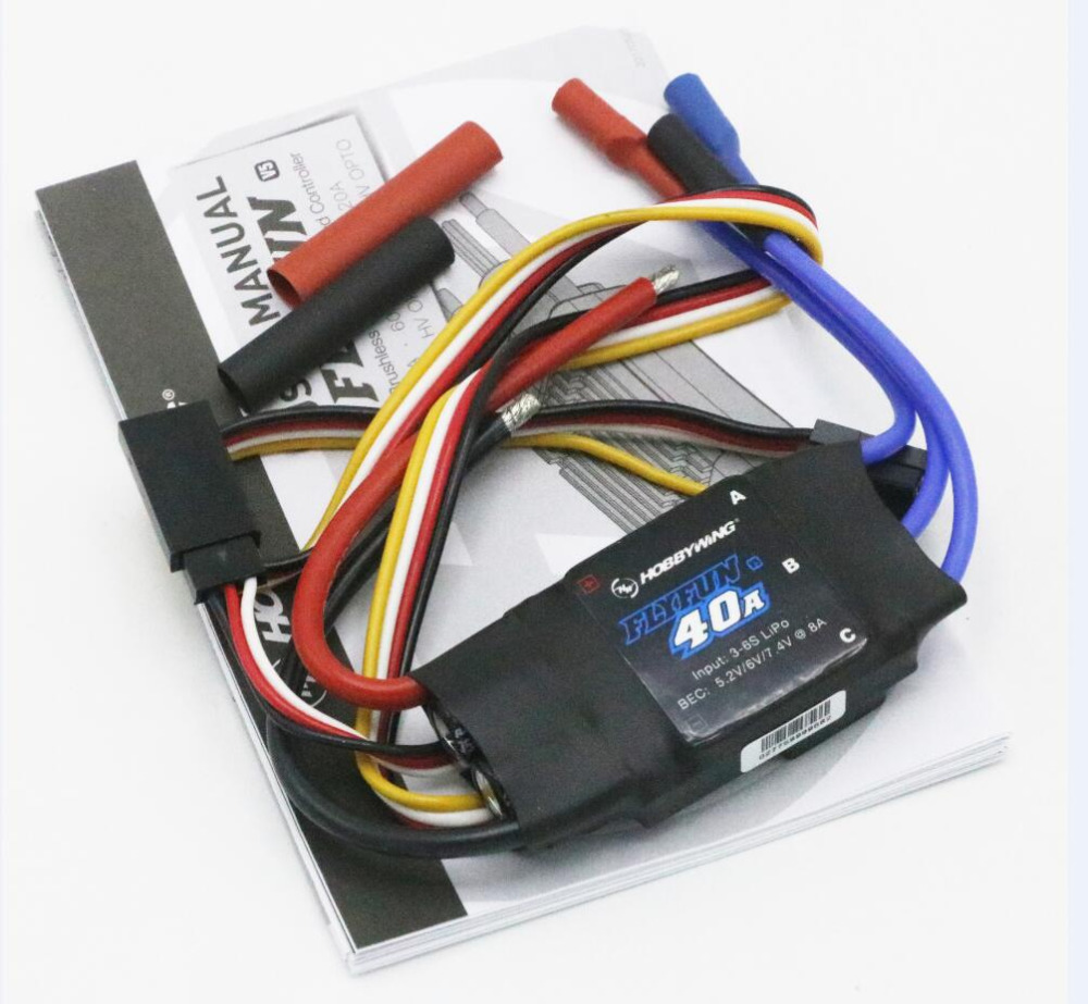 Hobbywing FlyFun V5 30A 40A 60A 80A 100A Brushless Speed Controller ESC w/2-6S Lipo SBEC for helicopter and RC Multicopter image