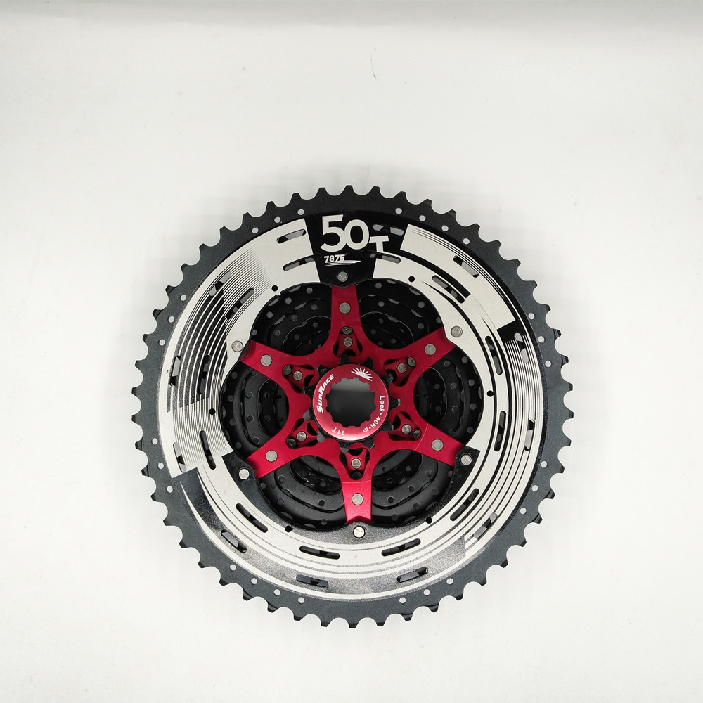 SunRace 12 Speed Bicycle Freewheel  11-50T Mountain Bicycle Cassette Tool MTB Flywheel Bike Parts mtb mountain bike bicycle 10s cassette freewheel 8 speeds flywheel 11 13 15 18 21 24 28 32 36t teeth crankset