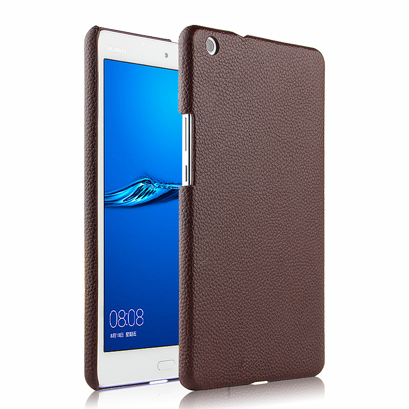 Case Cowhide For Huawei Mediapad M3 Lite 8.0 CPN-L09 CPN-W09 CPN-AL00 8 Inch Tablet Protective Shell Cover Genuine Leather Cases
