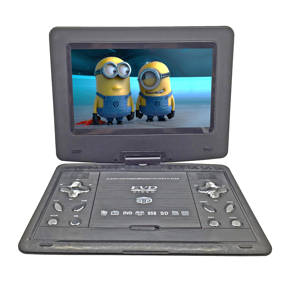 New 13.9 inch Portable DVD EVD VCD SVCD CD Player With Game and radio Function TV AV Support SD MS MMC Card 9 portable dvd player w game radio function black
