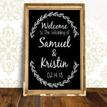 Custom Wedding Decoration Welcome Sign Art Wall Vinyl Stickers Mural Decor Ceremony Chalkboard Decal Baptism Poster N102