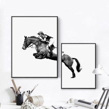 Bianche Wall Equestrian Show Moment Modern Minimalist Decor Canvas Painting Art Print Poster Paintings Home Decoration