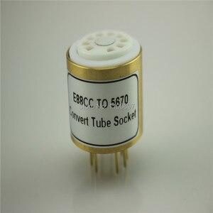 Image 2 - 1PC E88CC 6922 6DJ8 6N11 (Top) TOT 5670 6N3 (Bodem) elektronische Buis DIY Audio Vacuümbuis Adapter Socket Converter Gratis Verzending
