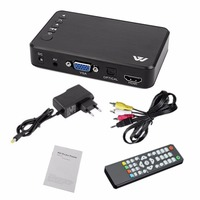 Mini Portable Full HD 1920x1080 HDMI VGA AV USB Hard Disk U Disk Player Multimedia Player