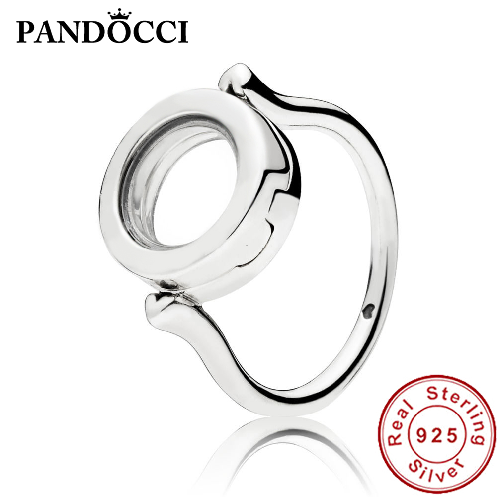 PANDOCCI 100% 925 Sterling Silver New 1:1 197251 FLOATING LOCKET RING Womens Fashion Box Ring DIY Small Decorative Gift JewelryPANDOCCI 100% 925 Sterling Silver New 1:1 197251 FLOATING LOCKET RING Womens Fashion Box Ring DIY Small Decorative Gift Jewelry