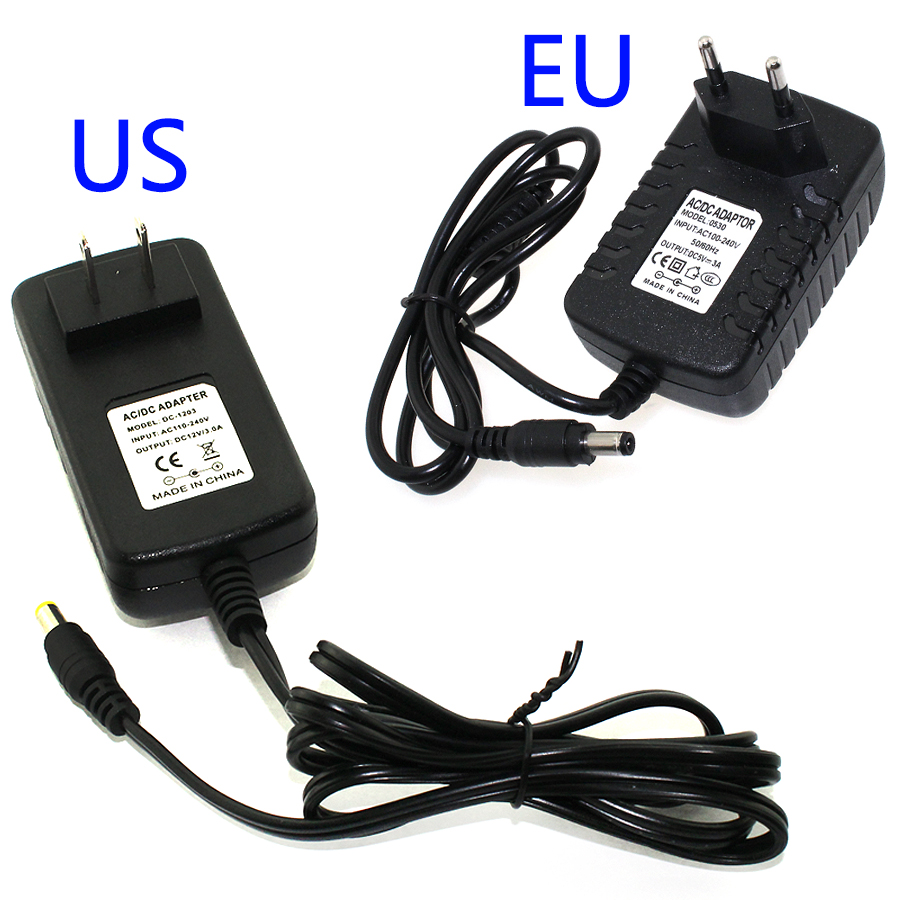 EU/US Plug Power Adapter 12V 3A Converter Transformer Power Supply Charger For LED Strip 5050/3528/5630/3014
