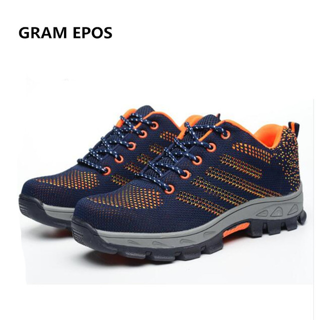 b622a81559bc GRAM EPOS Air Mesh Unisex Boots Men Work Safety Shoes Steel Toe Cap For Anti -Smash Puncture Proof Breathable Protect Footwear