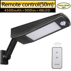 Solare Luci Esterne 48 LED di Controllo Remoto 4 Modalità di Luci di Sicurezza A Raggi Infrarossi Sensore di Movimento Impermeabile con Angolo Regolabile