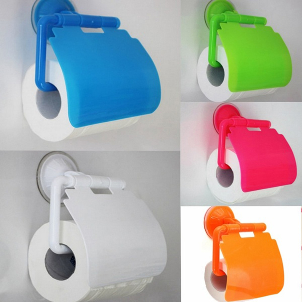 Whole Sale Colorful 1PC Waterproof Plastic Toilet Bathroom Kitchen Wall Mounted Roll Paper Holder Carrier Home Decoration Tools