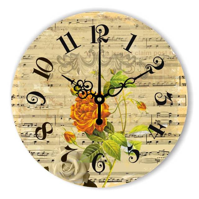 More Silent Large Decorative Wall Clock For Bedroom Decoration The Music  Note Wall Decoration Watch Children
