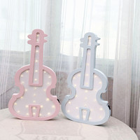 Nordic violin LED lights wall hanging wall decorations girls room decoration wall ornaments decorative gifts