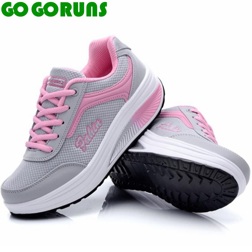 GOGORUNS outdoor women running shoes swing platform ladies fitness running shoes for women ankle boots sneakers sport shoes camel shoes 2016 women outdoor running shoes new design sport shoes a61397620
