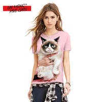 3D Print T Shirt Womens Brand 2018 Summer Clothing Women Casual Funny Cat Tops Tees Short