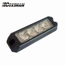 Высокая интенсивность 4*3 Вт светодиодный полицейский стробоскопический предупреждающий светильник для автомобиля, светодиодный светильник-гриль с поверхностным креплением, 10-30 В постоянного тока, ECE R65, SAE