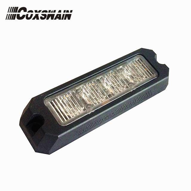 High intensity 4*3W Led police strobe warning light for car, LED grill surface mount lighthead , 10-30V DC, ECE R65, SAE passed