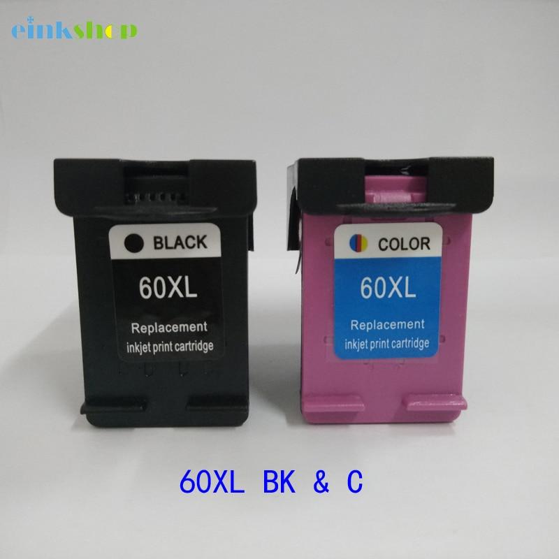 2Pcs Cartridge For HP 60 Ink Cartridge For HP Deskjet F2480 F2420 F4480 F4580 D2660 D2530