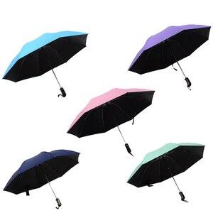 Image 2 - 8 costela totalmente automático guarda chuva masculino e feminino à prova de vento 3 dobrável ensolarado e chuva carro anti chuva reverso guarda chuvas
