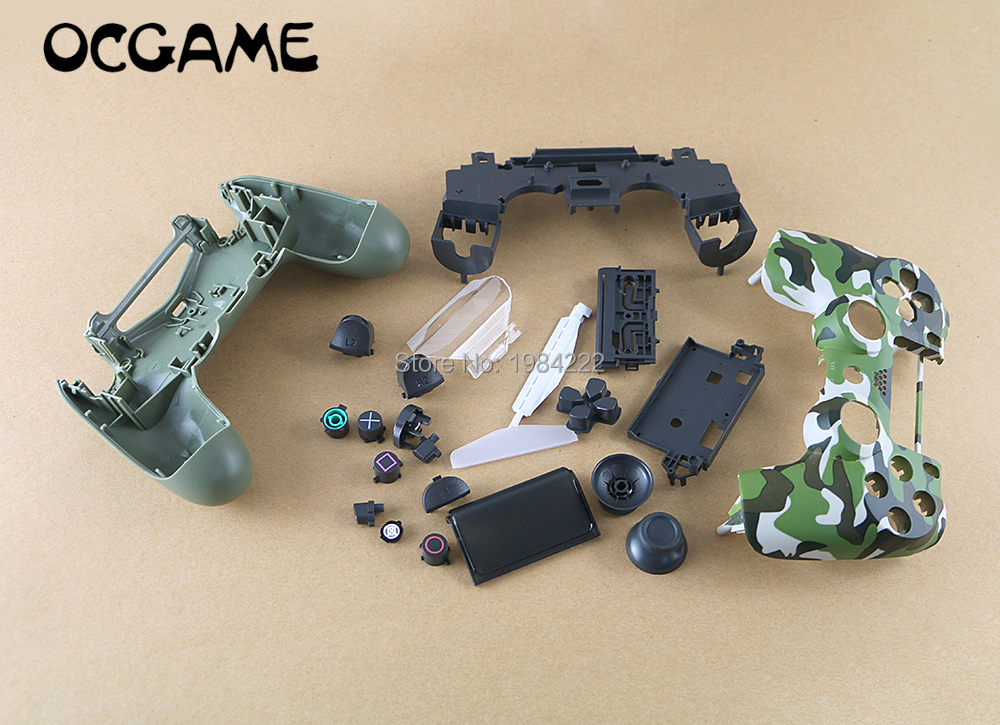 OCGAME 20sets lot Camouflage Black Replacement Housing Shell Case for PS4 Pro Wireless Controller JDS040 Mod