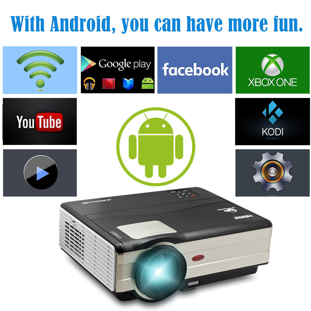 Caiwei Digital Led Projector Home Theater Beamer Lcd: CAIWEI 1280x800 Led Projector Wifi Home Cinema Projector