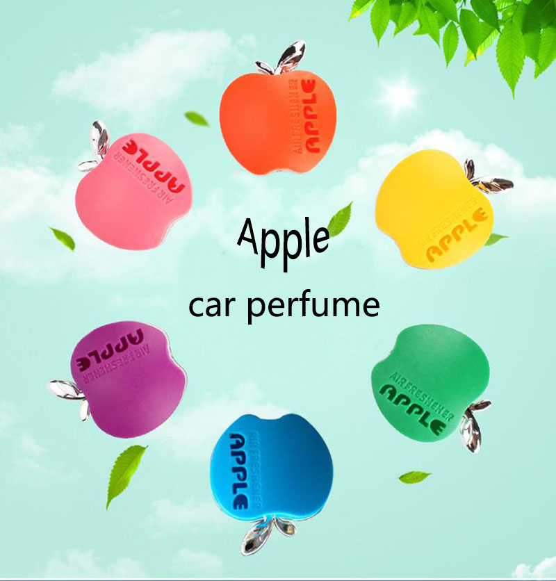 Air Freshener: Parfum car-styling Flavor In The Car Perfume 100 Original Apple Shape Car Air Freshener For VW Ford Kia Renault 1pcs