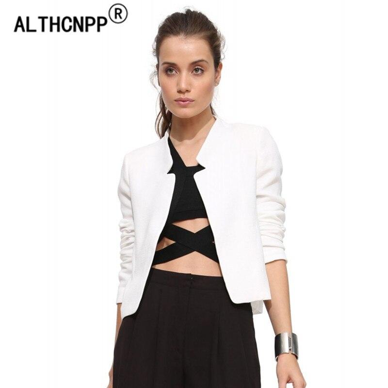 2018 Spring Women Blazers and Jackets Ladies Blazer Feminino Casual Short Jacket Female Slim Collar Veste Blazer Femme