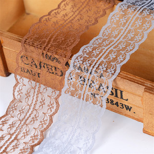 10m Colorful Lace Ribbon Lace Trim Fabric Rustic Wedding Decoration Handcrafted Embroidered Sewing Clothes Dress DIY Material(China)