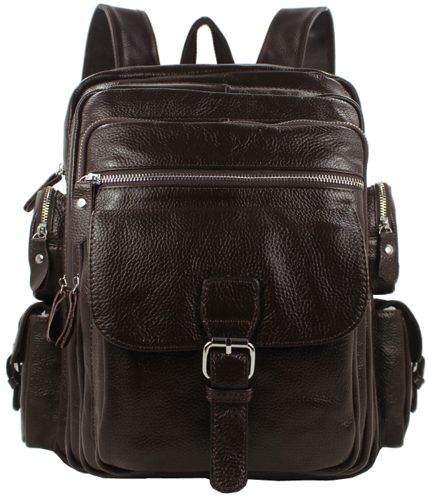 Luggage & Bags Independent 2018 Fashion Genuine Leather Backpack Men Rucksack Men Travel Backpack School Backpack Laptop Bag Knapsack Male Brown Black Top Watermelons
