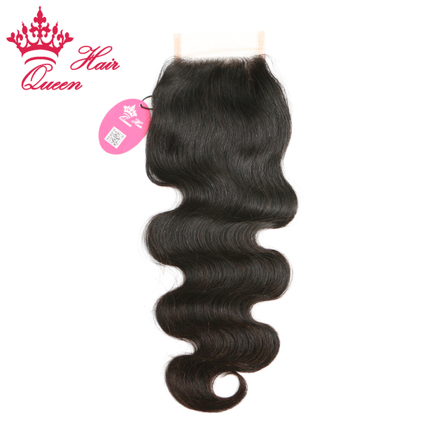 """Queen Hair Products DHL Free Top Closure Hair, Lace Top Closure Swiss Lace 4""""*3.5"""" Body Wave Shedding & Tangle Free"""