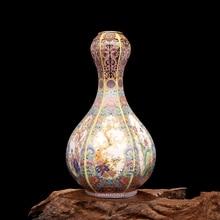 Jingdezhen Antico Ceramica Smalto Vaso Quadrato Vasi di Fiori E Uccelli Modello Antico Ming e Qing Porcellana