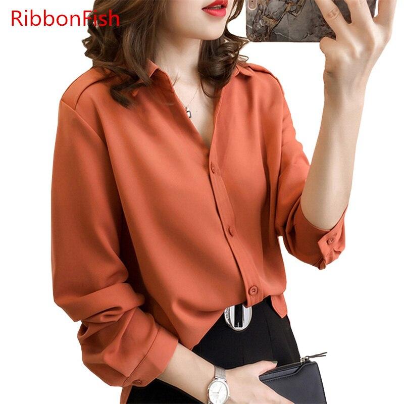 925447c7df8 Ribbonfish Для женщин Повседневное сезон  весна–лето Стиль шифон Блузки для  малышек Рубашки для