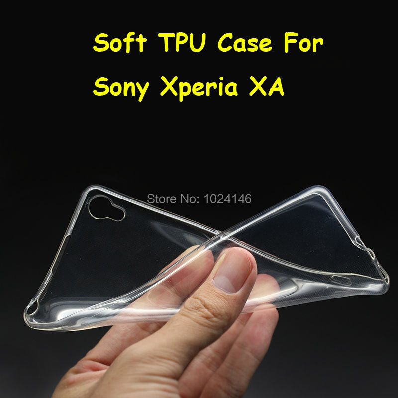Новый тонкий кристалл прозрачный мягкой ТПУ задняя крышка защиты кожи для Sony Xperia XA/XA Dual F3113 f3112 F3115 5.0