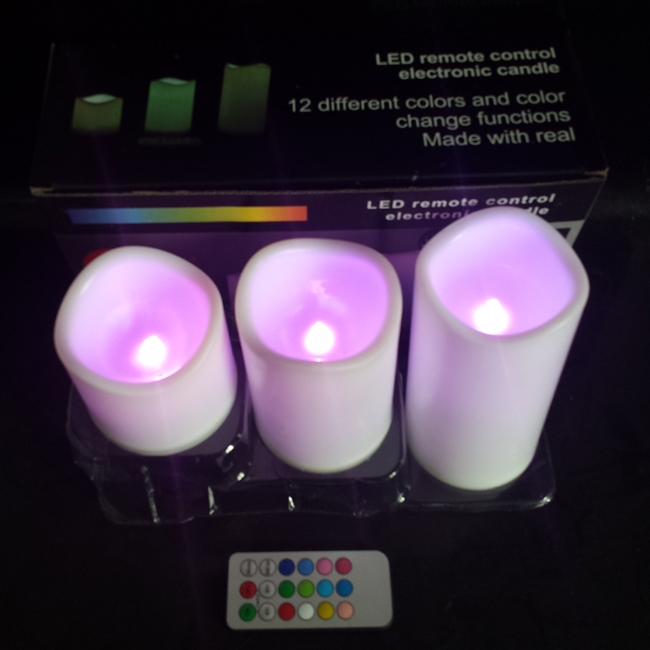 Led Electronic Flameless Candle Lights Remote Control Flame Flashing