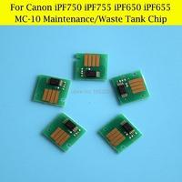 1 Lot MC 10 Waste Ink Tank Chips For Canon IPF750 IPF755 IPF760 IPF650 IPF655 IPF765