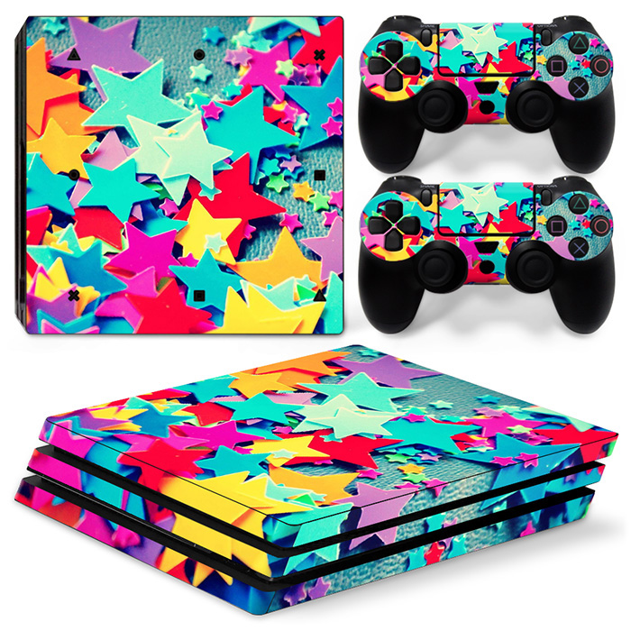 Colorful design for PS4 PRO vinyl decal skin sticker