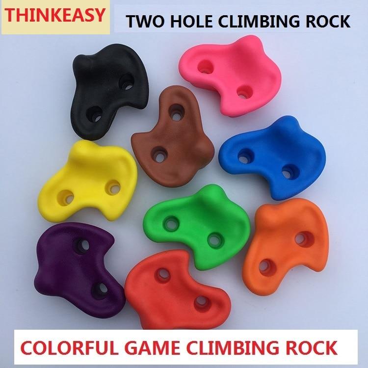 THINKEASY Plastic Rock Children Indoor Rock Climbing Wall Rock Stone Children Sport Outdoor Playground Body Building Game Tool